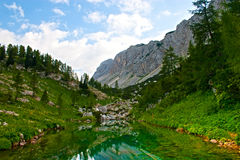 Lake and mountains in Alps Stock Photo