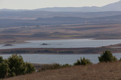 Lake and mountains in the area of Setif Royalty Free Stock Images