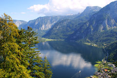 Lake in the mountains, Austria Royalty Free Stock Photos