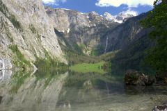 Lake and Mountains in Bayern royalty free stock photography