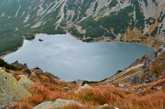 Lake in mountains. royalty free stock images