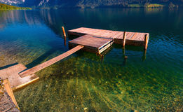 Lake between mountains. Beauty world Italy Europe Royalty Free Stock Photography