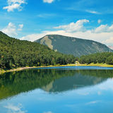 Lake, mountains and blue sky Royalty Free Stock Images