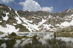 Lake  and mountains in Colorado Stock Photos