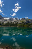 Lake in the mountains - Fedaia pass - Dolomites Royalty Free Stock Photos
