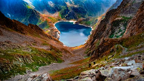 Lake among the mountains, France Stock Photography