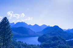Lake in Mountains in German Bavaria Royalty Free Stock Photos
