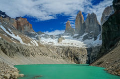 Lake on the mountains. Green lake on the mountains royalty free stock photography