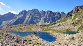 Lake and mountains High Tatras, Slovakia, Europe Royalty Free Stock Photography