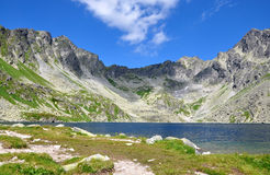 Lake and mountains High Tatras, Slovakia, Europe Royalty Free Stock Image
