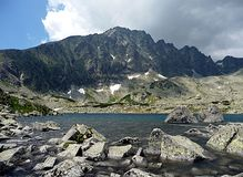 Lake and mountains, High Tatras, Slovakia, Europe Royalty Free Stock Photo