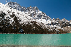 Lake in mountains, Himalayas Stock Images
