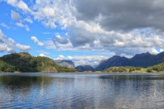 Lake with mountains Royalty Free Stock Photos