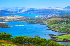 Lake and Mountains in Isle of Skye island. Landscape in Highland Stock Photo
