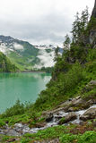 Lake in the mountains of the Italian Alps Stock Photos