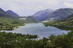 Lake and mountains. In Italy Stock Photo