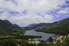 Lake and mountains. In Italy Stock Images