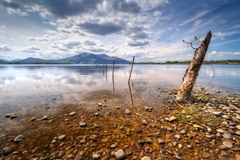 Lake at the mountains in Killarney Royalty Free Stock Image