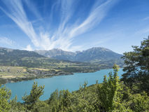 Lake with mountains Royalty Free Stock Photos