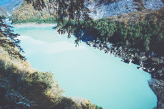 Lake in mountains Landscape aerial view Royalty Free Stock Photos