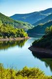 Lake between mountains Stock Image