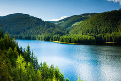 Lake in the mountains Royalty Free Stock Photos