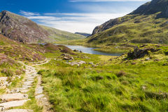 Lake and mountains, Llyn Idwal Royalty Free Stock Image