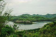 Lake in the mountains : Loei, Thailand royalty free stock image