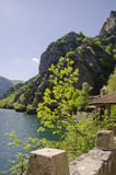 Lake and mountains at Matka Canyon Stock Photography