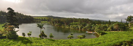 Lake in mountains. Mauritius Royalty Free Stock Images