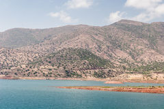 Lake among the mountains, Morocco Royalty Free Stock Images