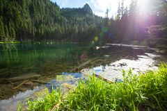Lake in mountains Royalty Free Stock Images