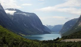 Lake and mountains in Norway Stock Photography