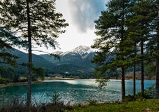 Lake in the mountains. Of the Peloponnese Stock Images