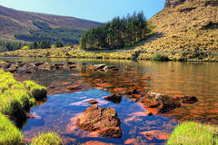 Lake in the mountains of  Peninsula in Ireland. Royalty Free Stock Photo