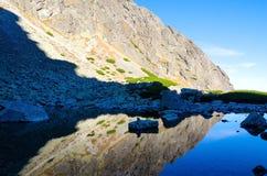 Lake in mountains. Stock Photos