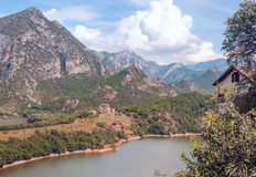 Lake in the mountains of the Pyrenees Stock Photography