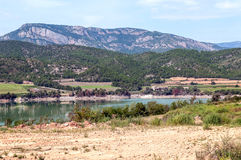 Lake in the mountains of the Pyrenees Royalty Free Stock Image