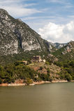 Lake in the mountains of the Pyrenees Royalty Free Stock Images