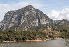 Lake in the mountains of the Pyrenees Stock Images