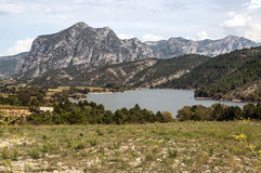 Lake in the mountains of the Pyrenees Stock Photo