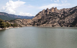 Lake in the mountains of the Pyrenees Royalty Free Stock Photo
