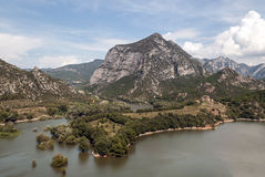 Lake in the mountains of the Pyrenees Stock Image