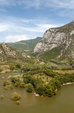 Lake in the mountains of the Pyrenees Stock Photos