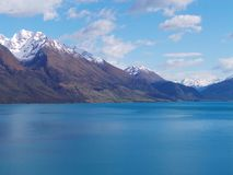 Lake and Mountains, Queenstown, New Zealand Royalty Free Stock Image