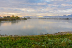 Lake in the mountains for recreation . Early morning Stock Photography