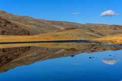 Lake mountains reflection autumn Royalty Free Stock Images