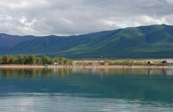 The lake and mountains in the Republic of Tuva Royalty Free Stock Photos