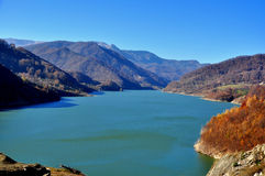 A beautiful blue lake in the mountains Royalty Free Stock Image