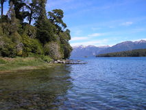 Lake & Mountains. This is the south of Argentina, a paradise of nature Royalty Free Stock Photo